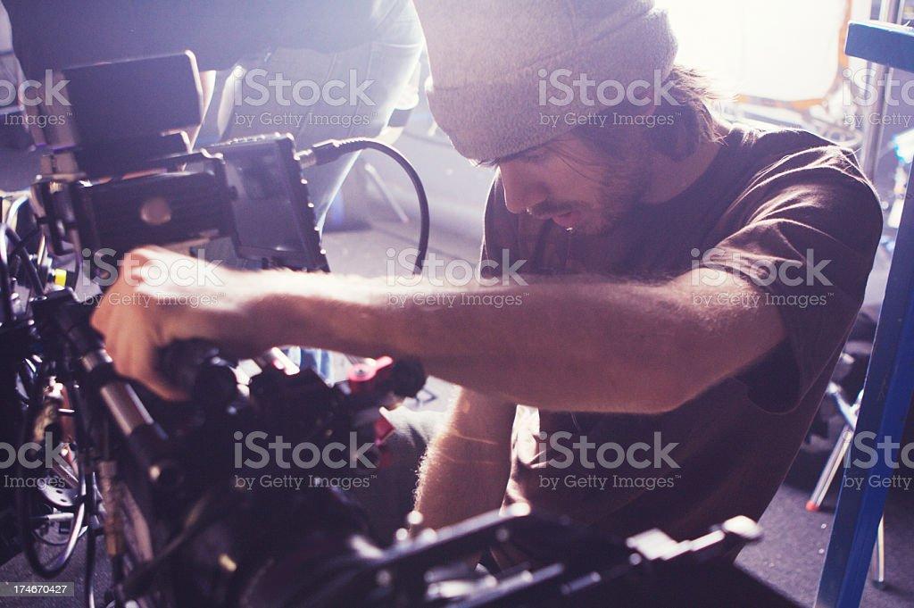 Adjusting Camera stock photo