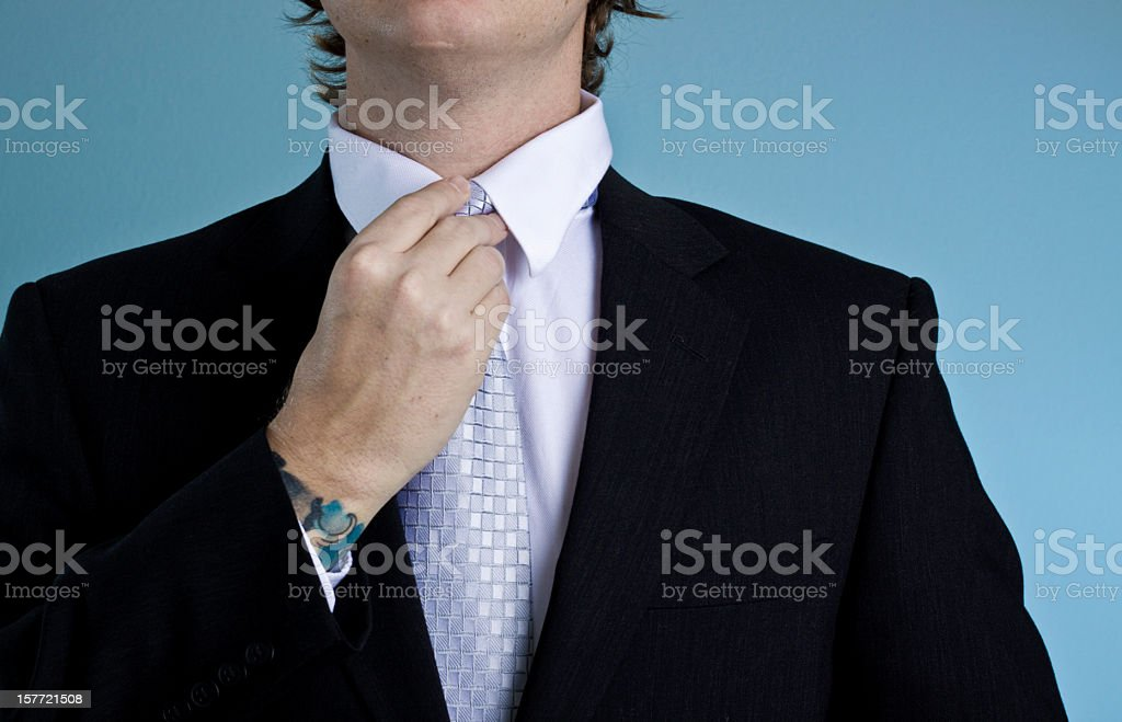 adjusting royalty-free stock photo