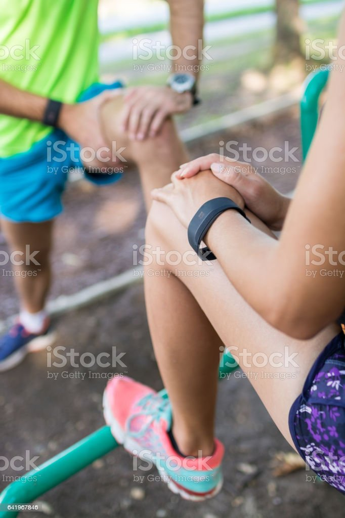 Adjusting their muscles will provide them more energy stock photo