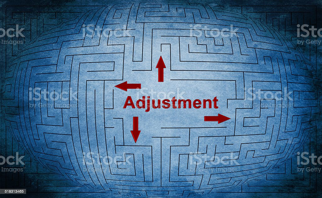 Adjustment maze concept stock photo
