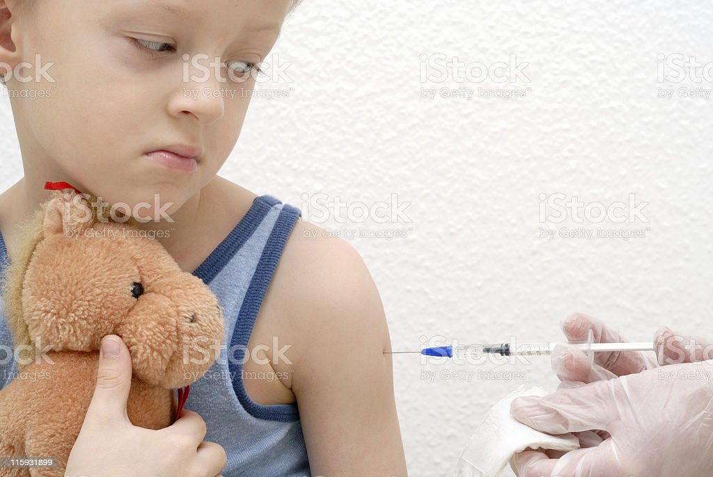 Administer inoculation royalty-free stock photo