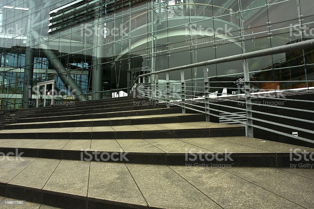 Administration Building with a front of glass stock photo