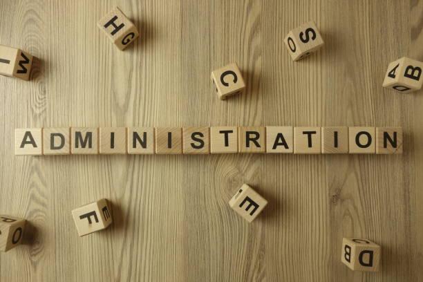 administration stock photo