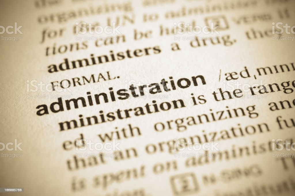 Administration word royalty-free stock photo
