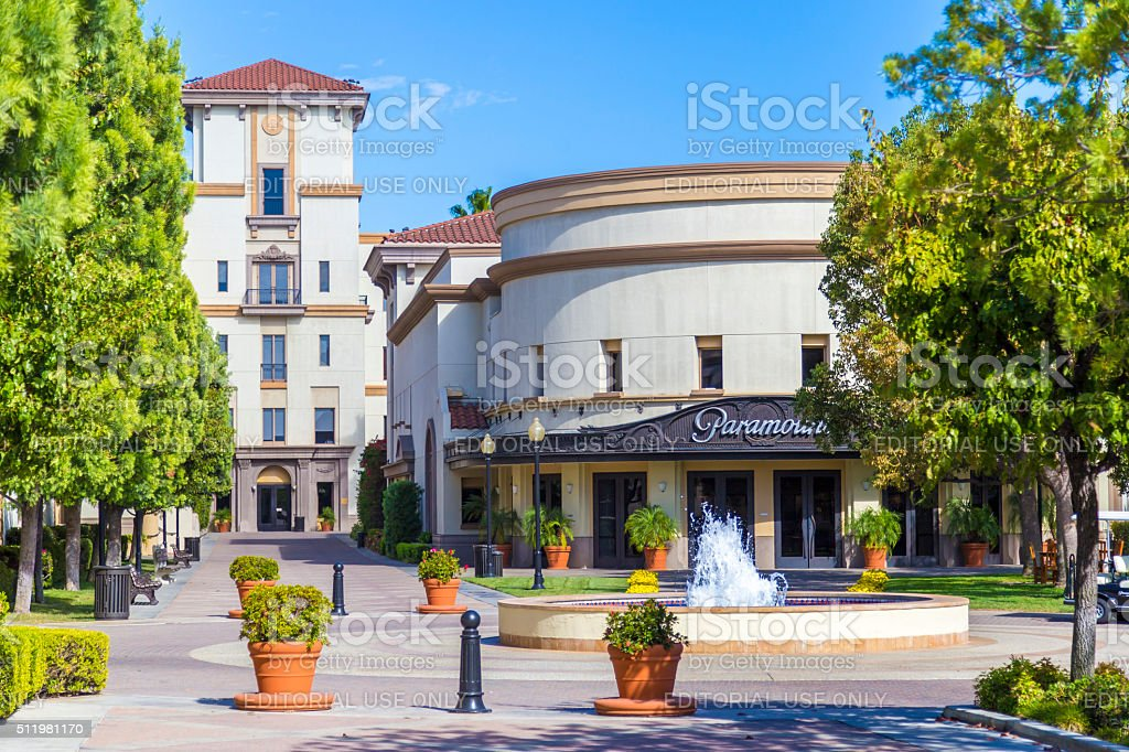 Administrative buildings of the Paramount Pictures Studio in Los Angeles stock photo