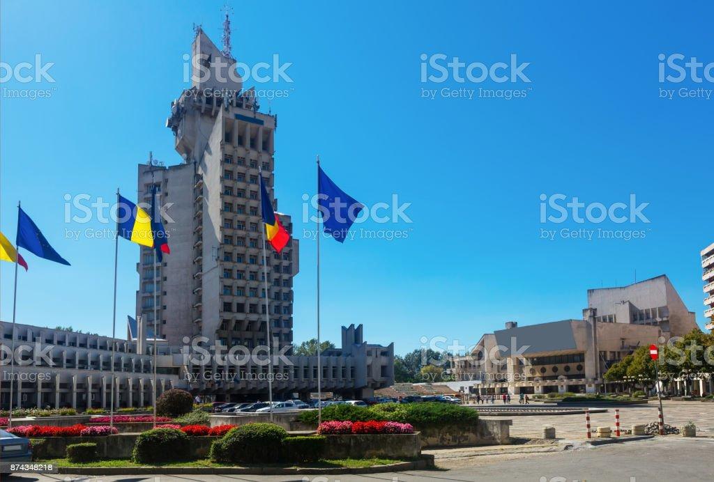 Administrative Palace in Satu Mare stock photo