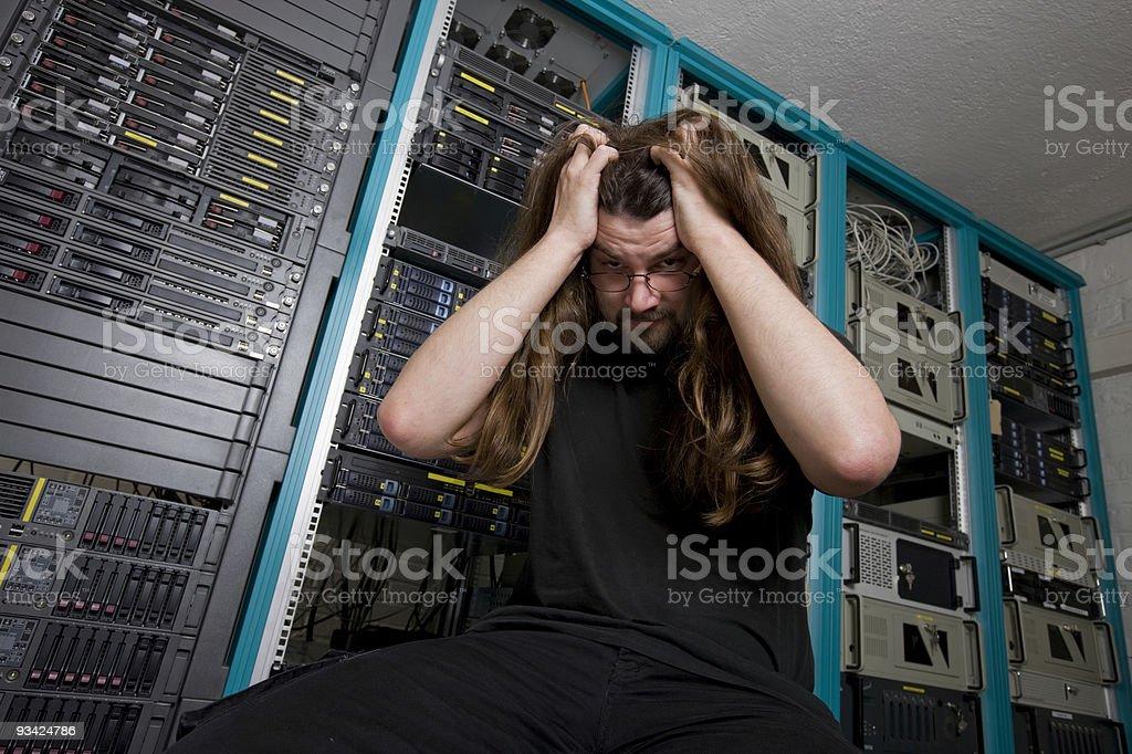 IT administrator nerd III royalty-free stock photo