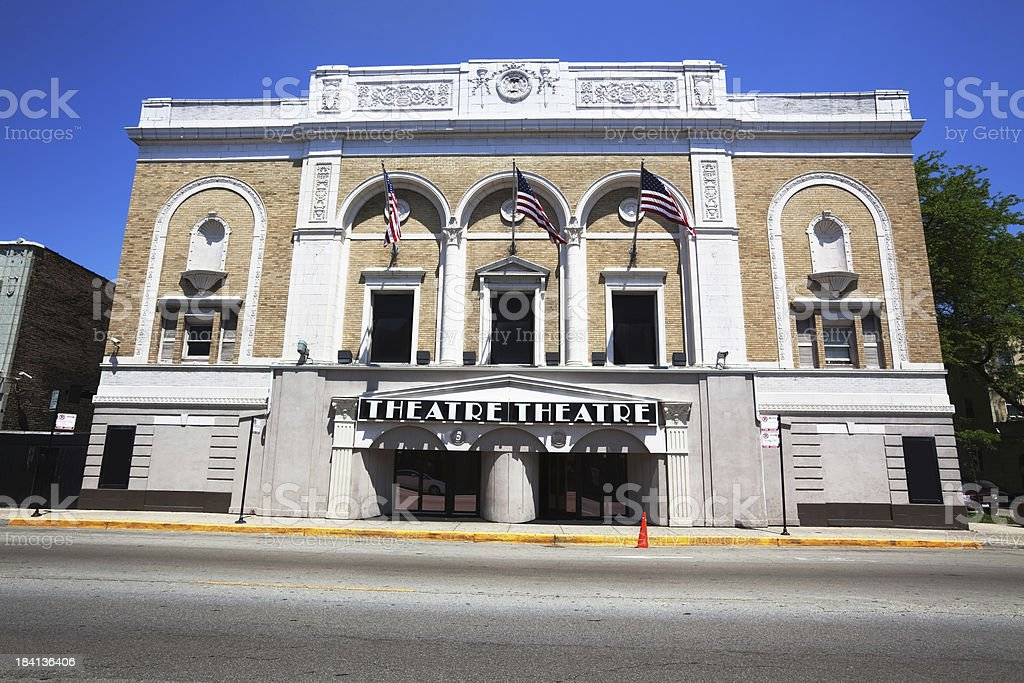 Admiral Theatre on Lawrence Avenue in Albany Park, Chicago royalty-free stock photo