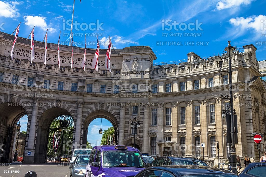 Admiralty Arch in London. UK stock photo