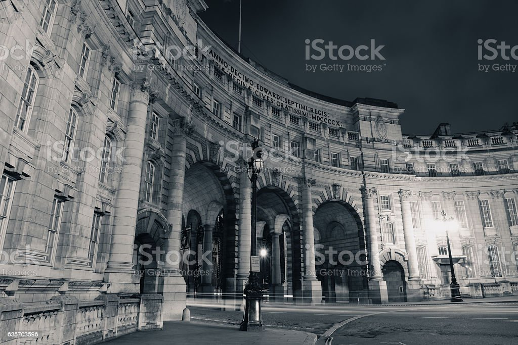Admiralty Arch London royalty-free stock photo