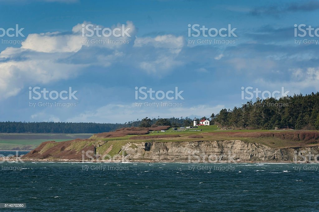 Admiralty Head Lighthouse at Fort Casey stock photo