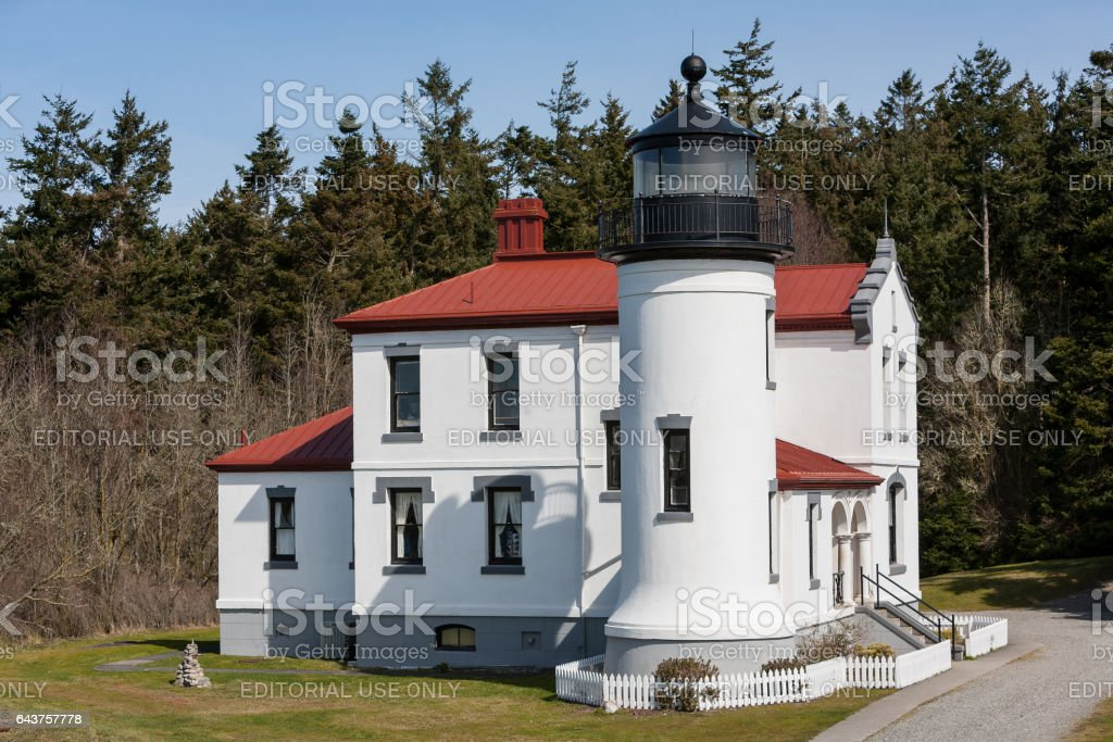 Admiralty Head Lighthouse stock photo