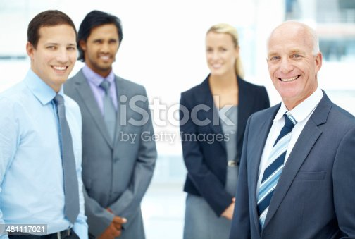 istock Admired and appreciated by his younger colleagues 481117021