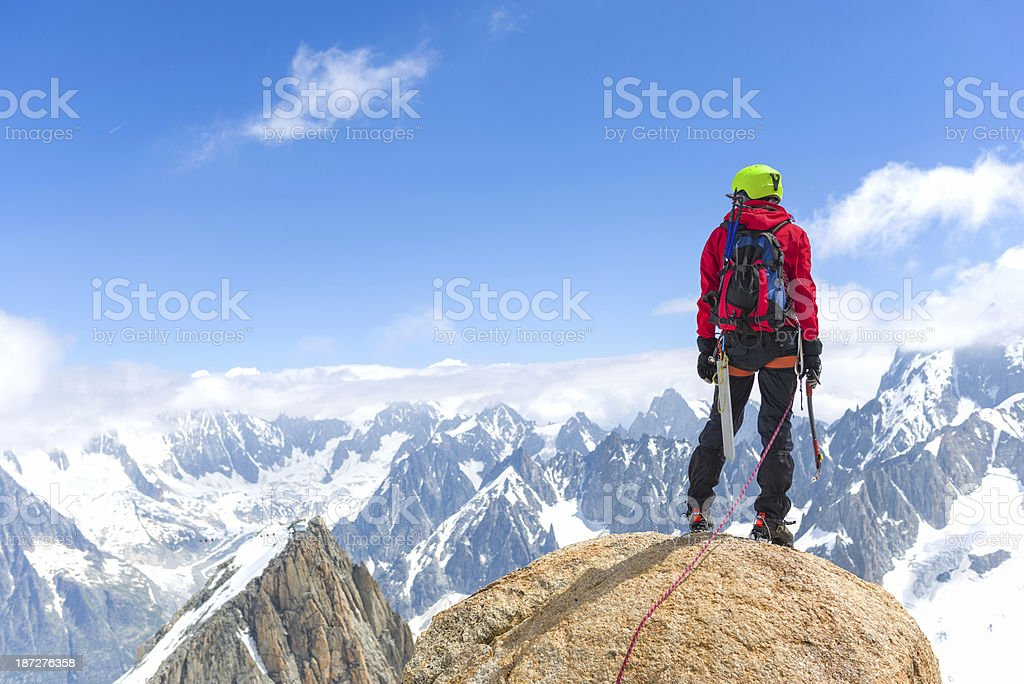 Admiring the Alps royalty-free stock photo