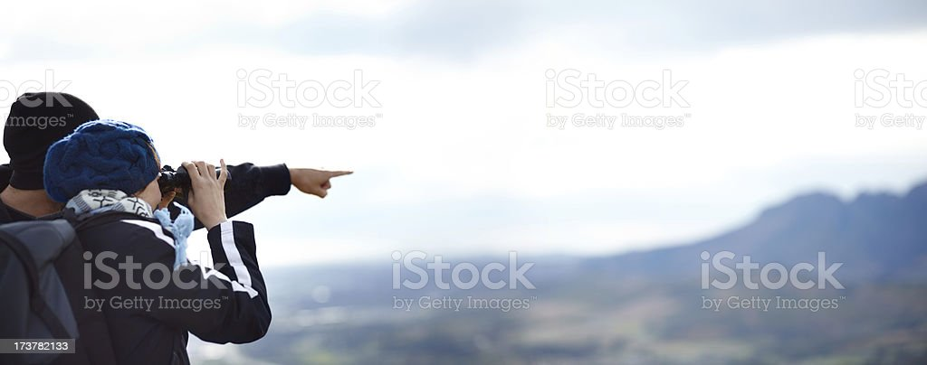 Admiring the majestic view stock photo