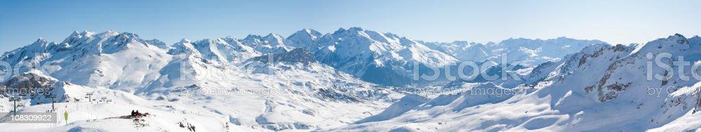 Admiring the Pyrenees stock photo