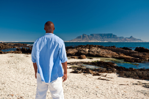 Admiring The Table Mountain Stock Photo - Download Image Now
