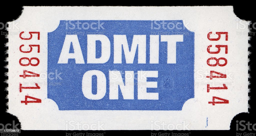 admission ticket stock photo