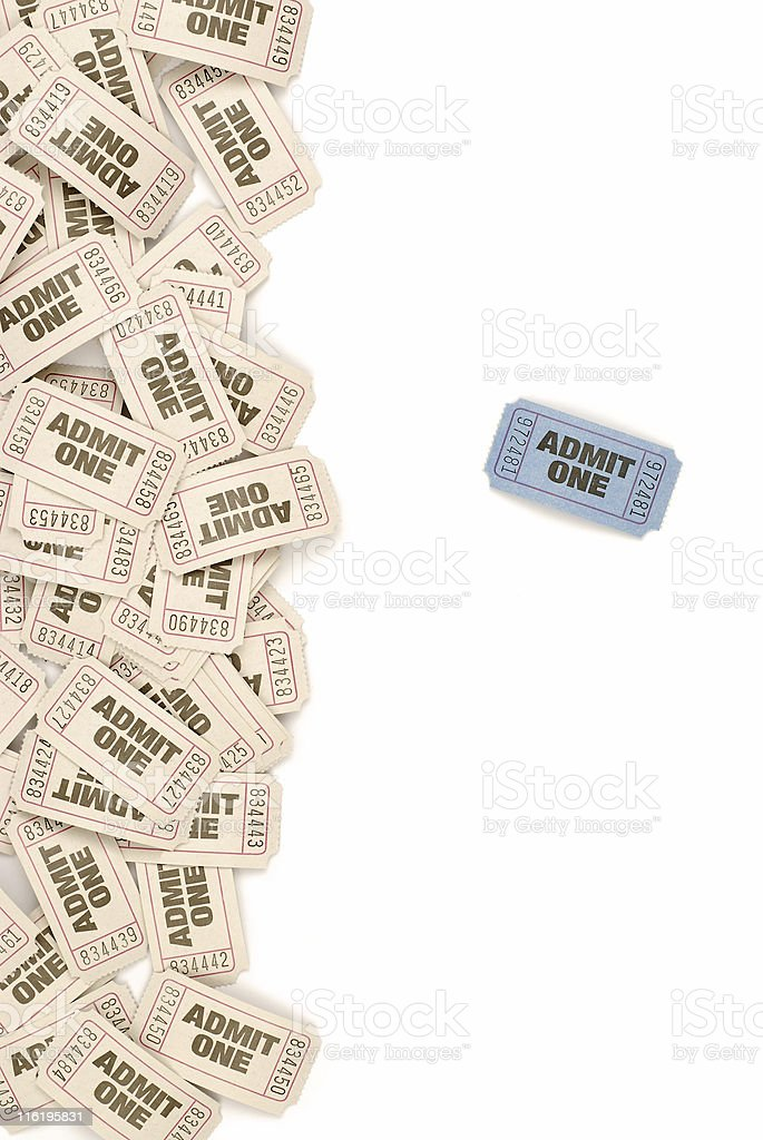 Admission tickets background royalty-free stock photo