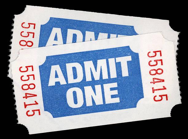 biglietti d'ingresso - biglietto del cinema foto e immagini stock