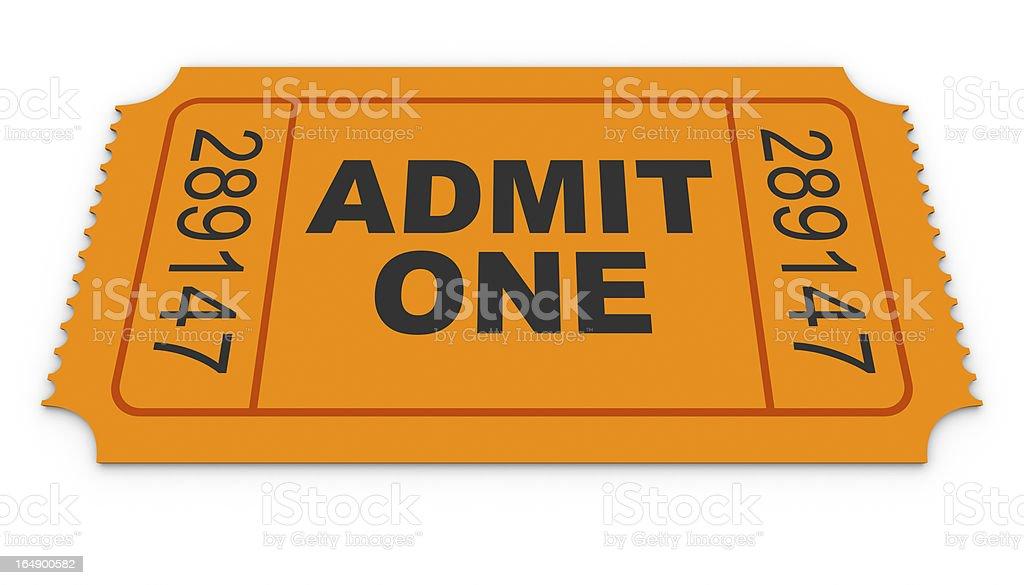 Admit One Ticket royalty-free stock photo