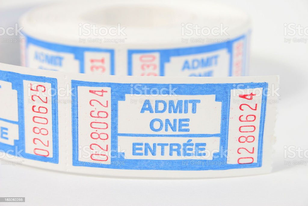 Admit one tickets royalty-free stock photo