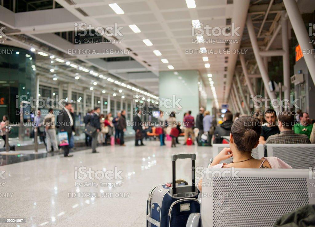 Adnan Menderes Airport, İzmir, Turkey stok fotoğrafı