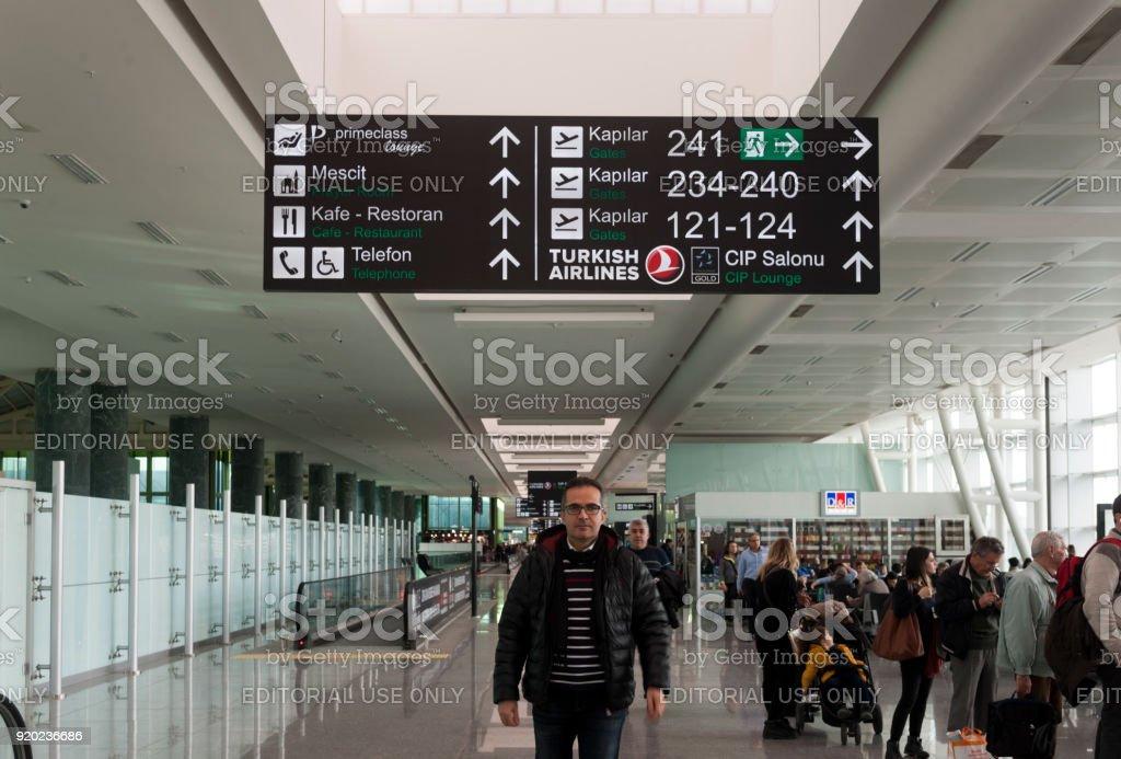 Adnan Menderes Havalimanı, Izmir-Türkiye'de. stok fotoğrafı