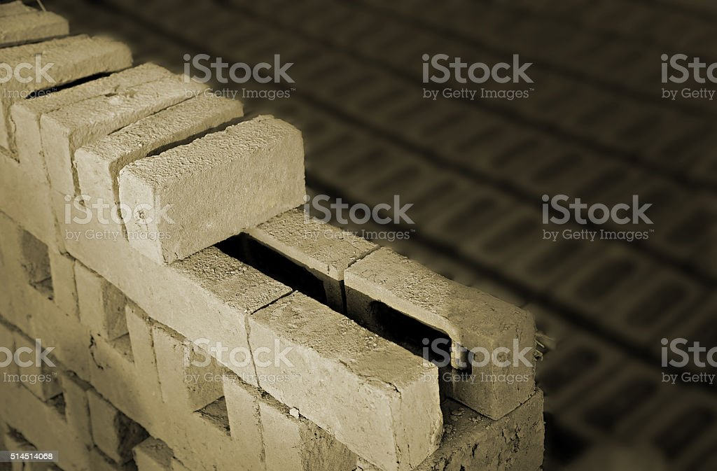 Adobe Bricks in a Row stock photo