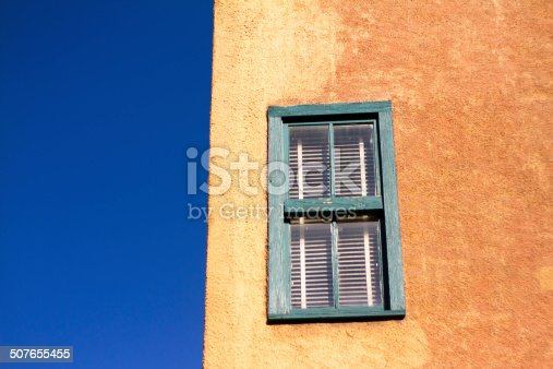 Adobe Building Against Brilliant Blue Sky, New Mexico
