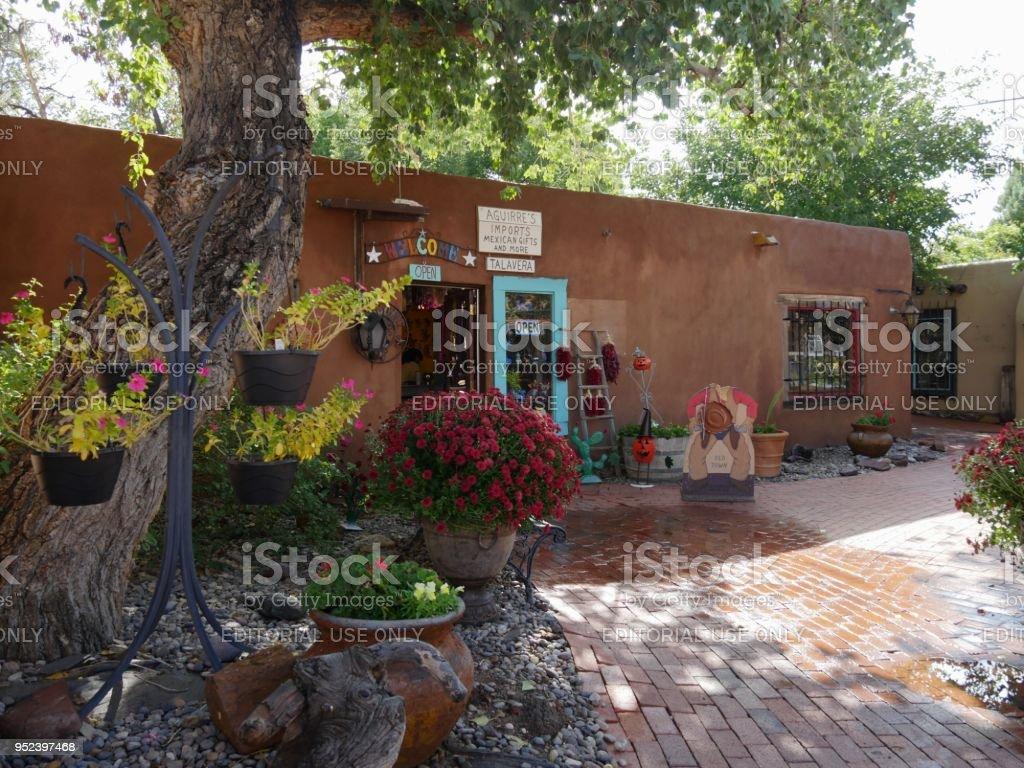Adobe building in Albuquerque stock photo