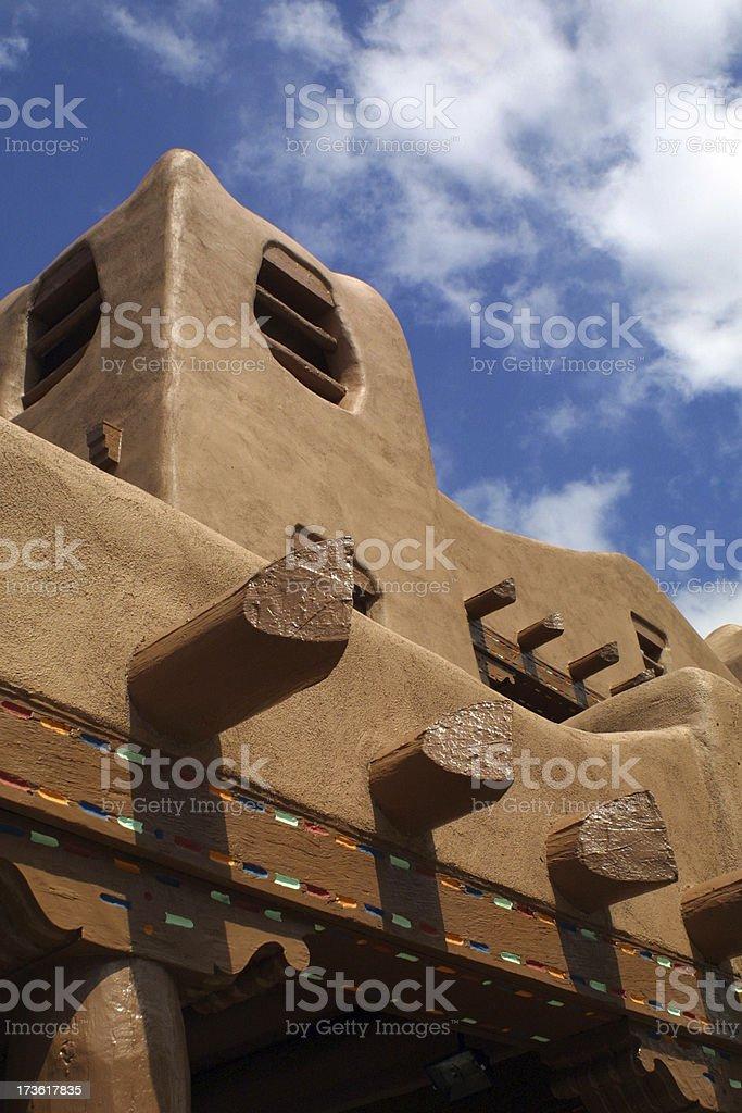 Adobe building in Santa Fe royalty-free stock photo