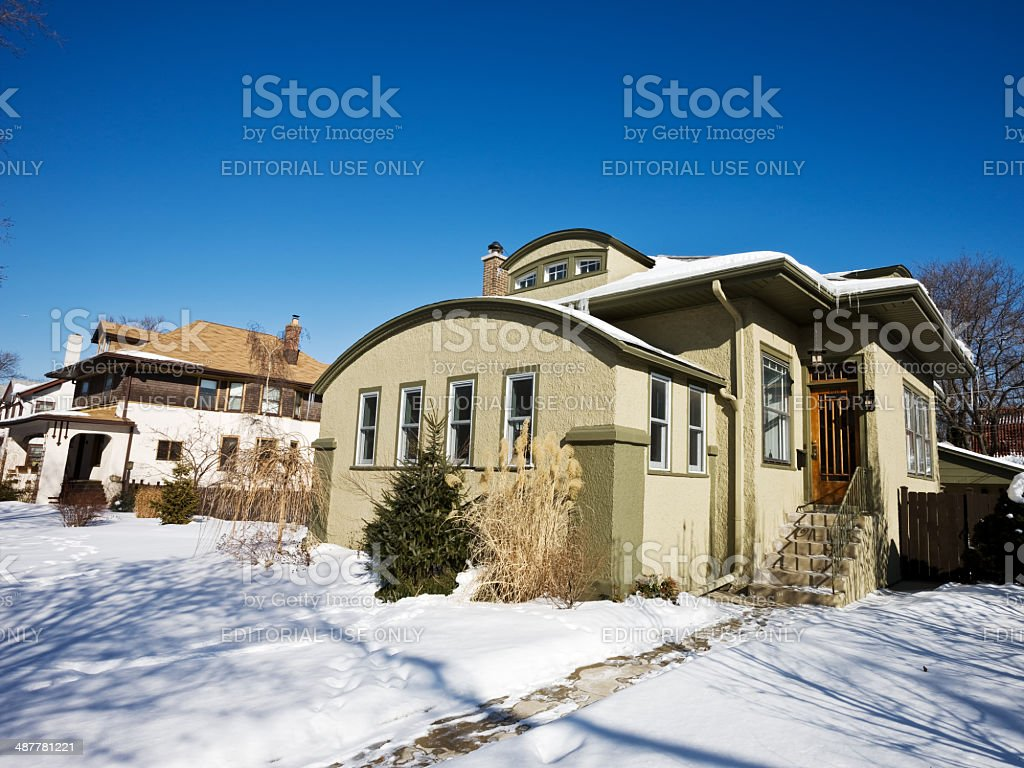 Adobe Edwardian House in Chicago royalty-free stock photo