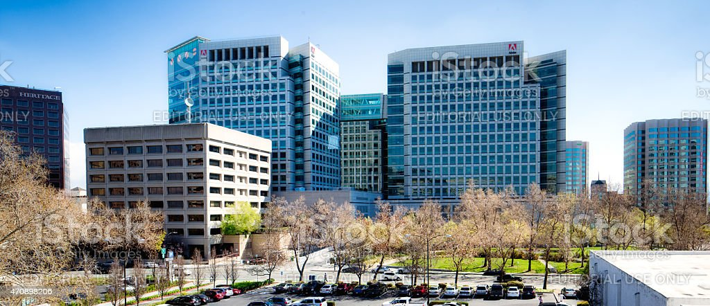 Adobe headquarters building in San Jose California stock photo