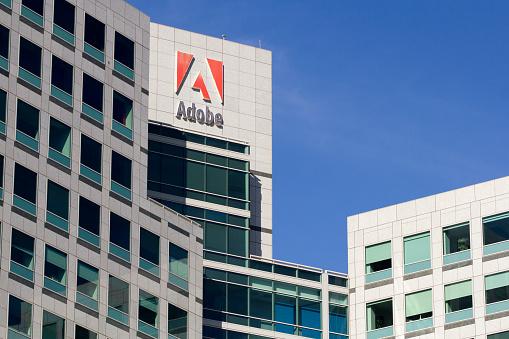 San Jose, CA, USA - Feb 17, 2020: Adobe Headquarters in San Jose, California.