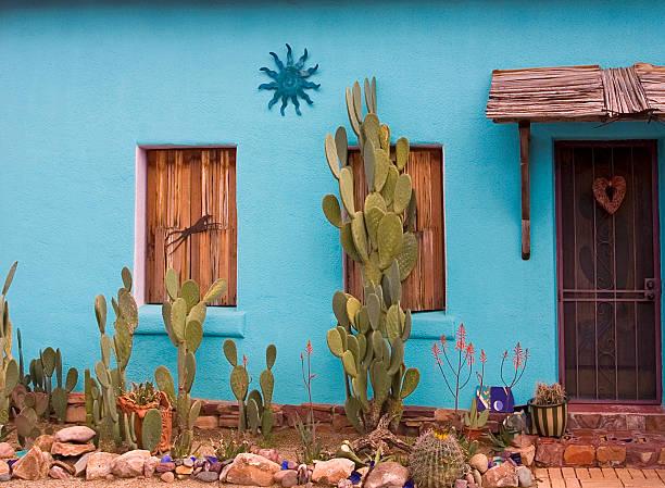 Adobe house Adobe house, historic section, Tucson, Arizona tucson stock pictures, royalty-free photos & images