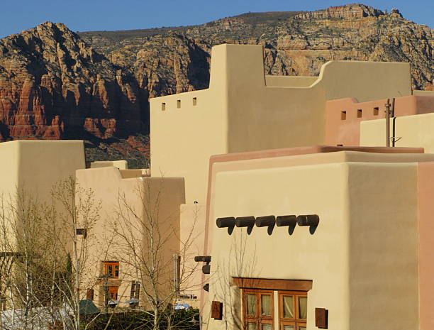 adobe house stucco southwestern - hopi stock photos and pictures