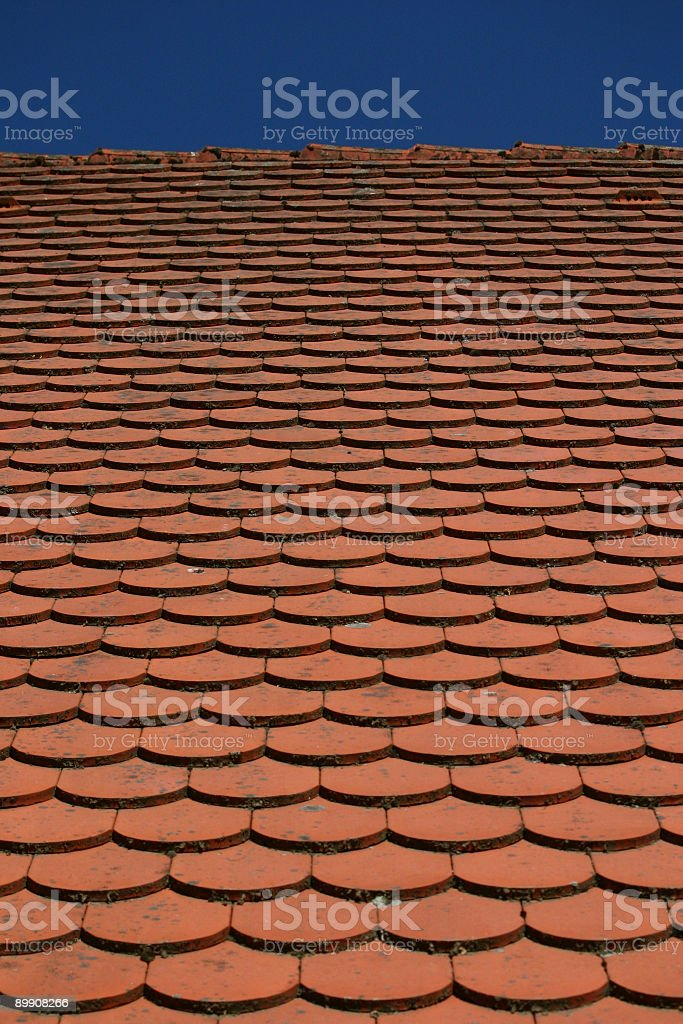 adobe roof 2 royalty-free stock photo