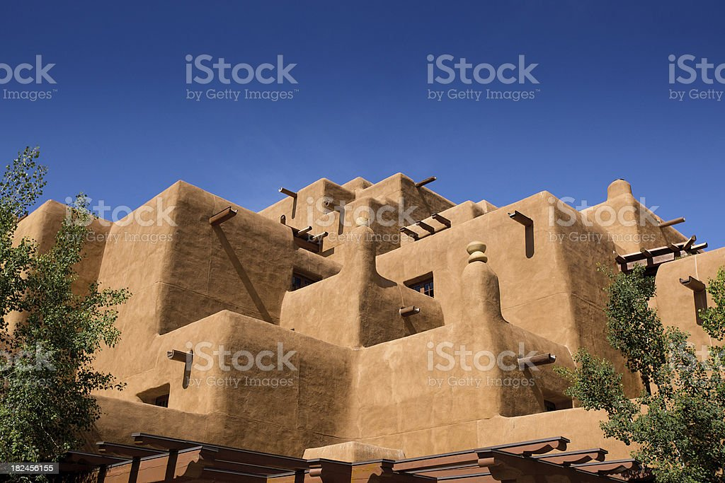 Adobe style building in Soutwest USA stock photo