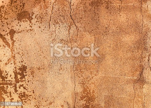 Adobe Wall Background Texture: Mottled Brown-Orange