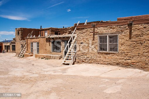 Adobe Wall at Acoma Pueblo, New Mexico.