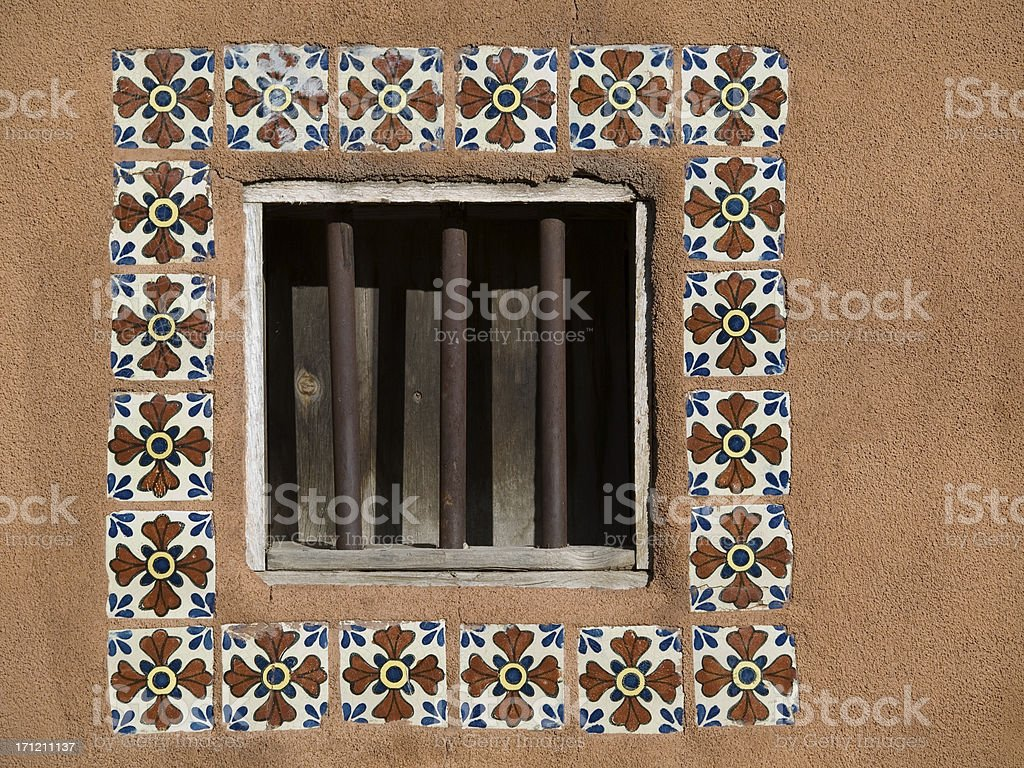 Adobe Window royalty-free stock photo