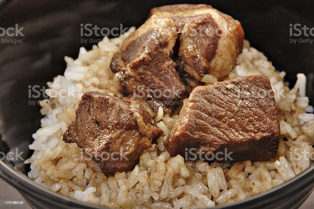adobo with rice royalty-free stock photo