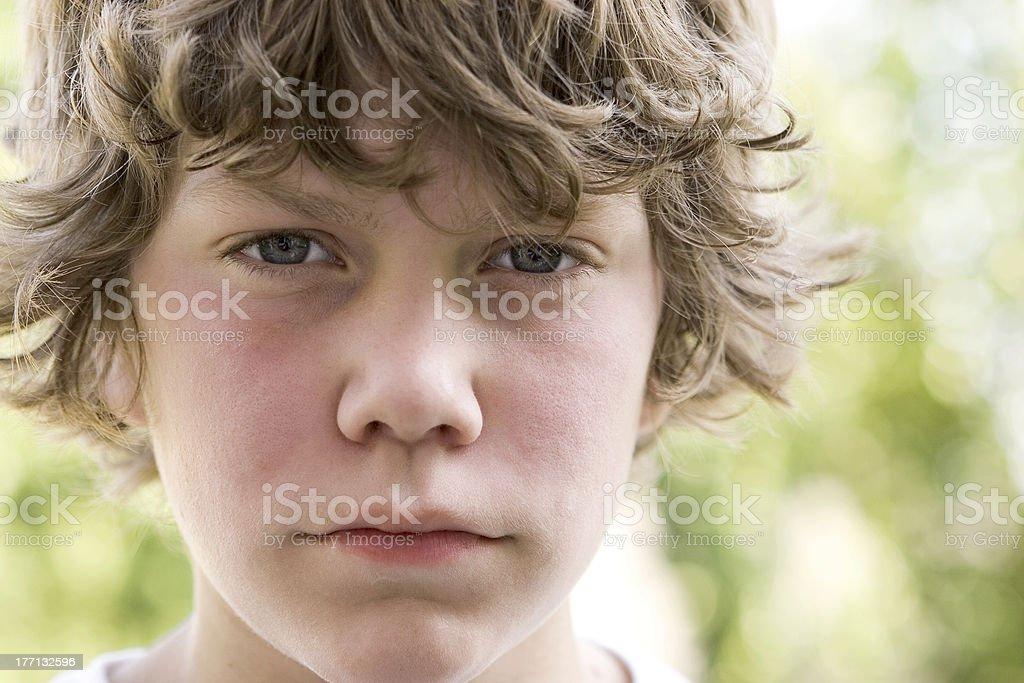 Adolescent eyes stock photo
