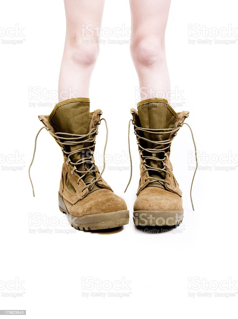 Adolescent in Boots royalty-free stock photo