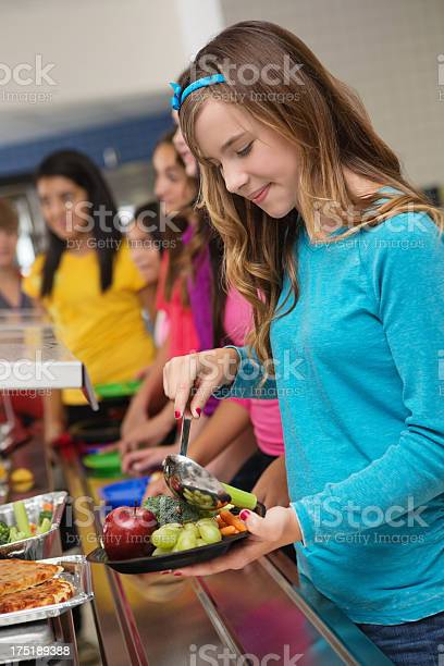 Adolescent student making healthy food choices in cafeteria lunch picture id175189388?b=1&k=6&m=175189388&s=612x612&h=7rzbze1df48a6m3v3n8vjhtqh77vvq4k0exje 8cgu4=