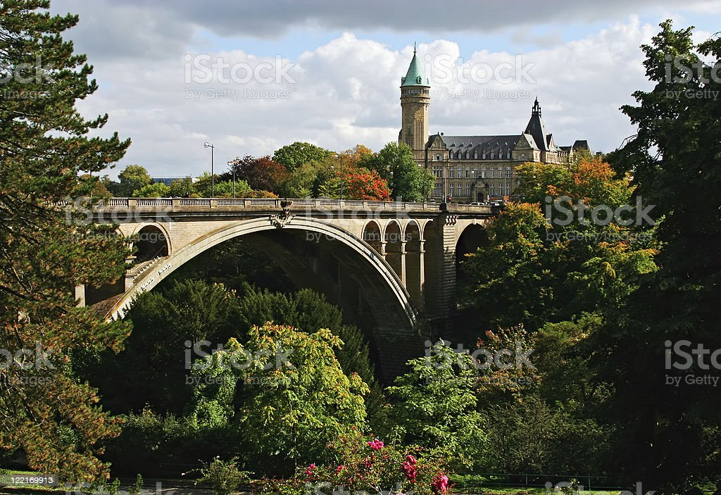 Adolphe Bridge, Luxembourg stock photo