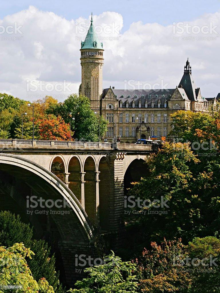 Adolphe Bridge, Luxembourg stock photo