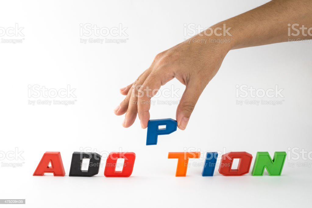 Adoption,word royalty-free stock photo