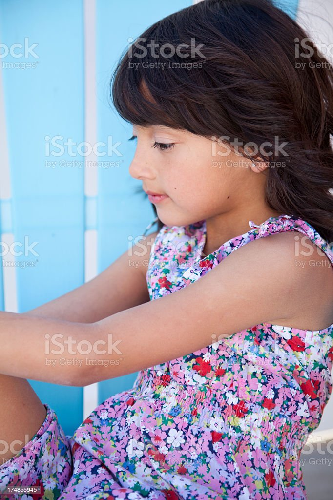 Adorable 6 year old girl royalty-free stock photo